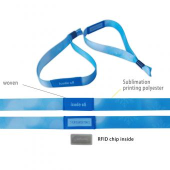 RFID chip woven wristbands - Vibbon